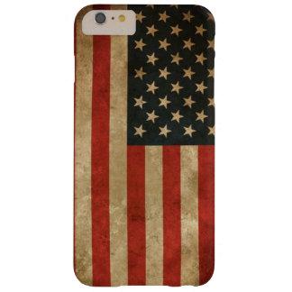 Bandera americana del Grunge del vintage - los Funda De iPhone 6 Plus Barely There