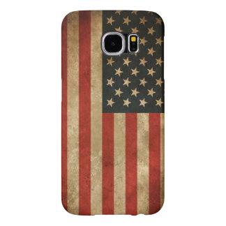 Bandera americana del Grunge del vintage - los Fundas Samsung Galaxy S6
