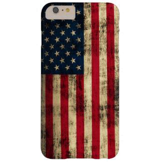 Bandera americana del Grunge Funda De iPhone 6 Plus Barely There