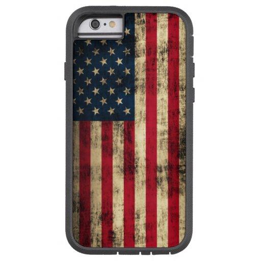 Bandera americana del Grunge Funda De iPhone 6 Tough Xtreme