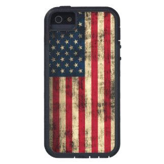Bandera americana del Grunge Funda Para iPhone SE/5/5s