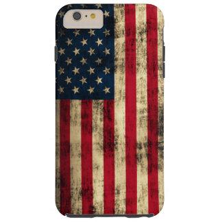Bandera americana del Grunge Funda Resistente iPhone 6 Plus