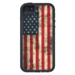 Bandera americana del Grunge iPhone 5 Protectores