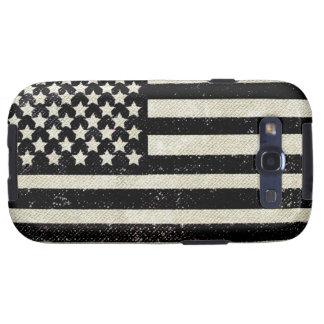 Bandera americana del grunge negro samsung galaxy s3 coberturas