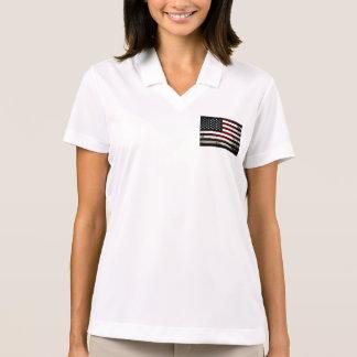 Bandera americana del Grunge negro Camisetas Polos
