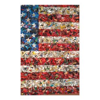bandera americana del grunge papeleria personalizada