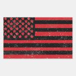 Bandera americana del grunge rojo negro rectangular altavoz