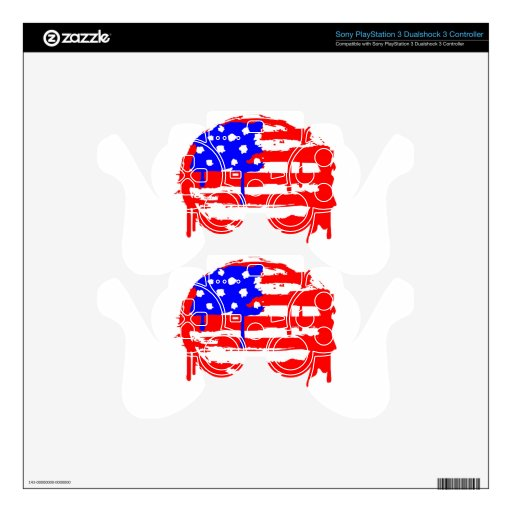 Bandera americana del Grunge Skins Para Mandos PS3