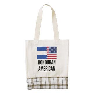 Bandera americana del Honduran Bolsa Tote Zazzle HEART