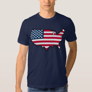 Bandera americana del mapa del GANADOR del PREMIO Polera