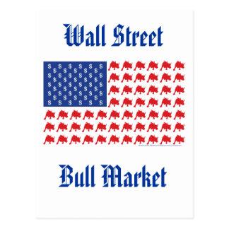 Bandera americana del mercado alcista de Wall Tarjetas Postales
