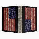 Bandera americana del metal, carpeta del Día de la