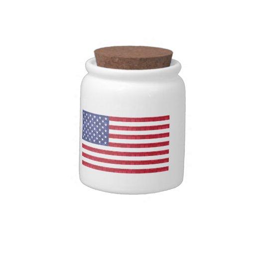 Bandera americana del modelo moderno jarras para caramelos
