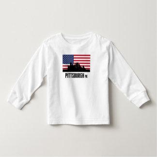 Bandera americana del PA de Pittsburgh Playera De Bebé