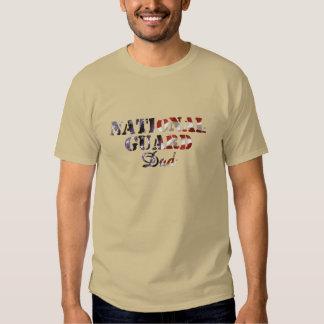 Bandera americana del papá del Guardia Nacional Poleras
