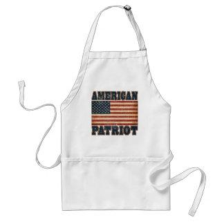 Bandera americana del patriota delantal