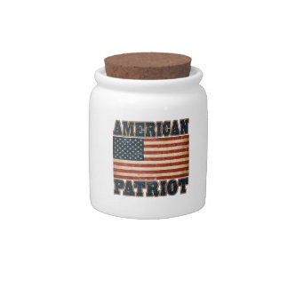 Bandera americana del patriota jarra para caramelo