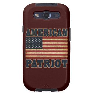 Bandera americana del patriota samsung galaxy s3 funda