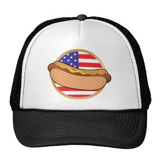 Bandera americana del perrito caliente gorro