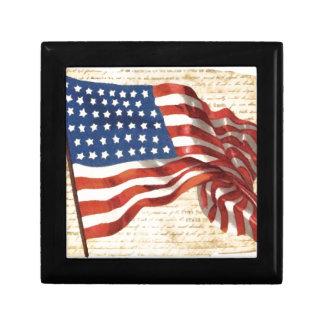 Bandera americana del vintage cajas de regalo