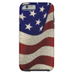 Bandera americana del vintage con efecto