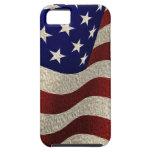 Bandera americana del vintage con efecto texturiza iPhone 5 Case-Mate fundas