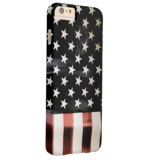 Bandera americana del vintage funda barely there iPhone 6 plus