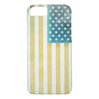 Bandera americana del vintage funda iPhone 7