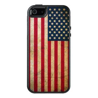 Bandera americana del vintage funda otterbox para iPhone 5/5s/SE