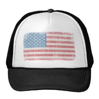 Bandera americana del vintage gorros bordados
