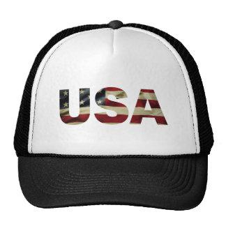 Bandera americana del vintage gorro de camionero
