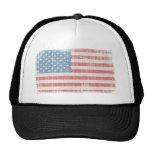 Bandera americana del vintage gorros