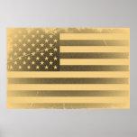 Bandera americana del vintage impresiones