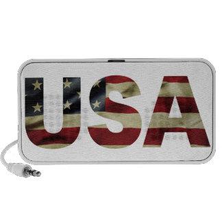 Bandera americana del vintage mp3 altavoz