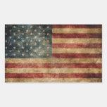 Bandera americana del vintage pegatina