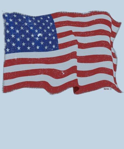 Bandera americana del vintage camisetas