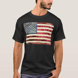 Bandera americana del vintage playera