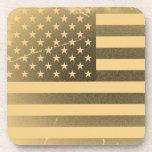 Bandera americana del vintage posavasos de bebida