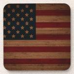 Bandera americana del vintage posavasos de bebidas