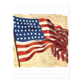 Bandera americana del vintage postales