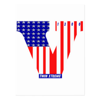 bandera americana del vtwin postal