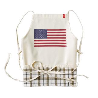 Bandera americana delantal zazzle HEART