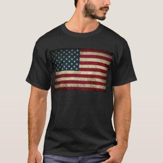 bandera americana descolorada y sucia playera