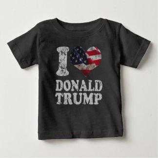 Bandera americana Donald Trump del corazón I Playera