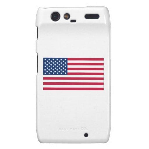 Bandera americana droid RAZR carcasas