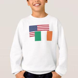 Bandera americana e irlandesa remera