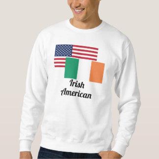 Bandera americana e irlandesa sudaderas encapuchadas