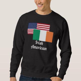 Bandera americana e irlandesa suéter