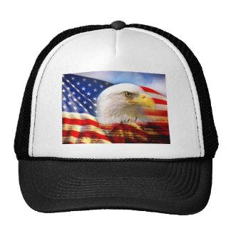 Bandera americana Eagle calvo Gorras De Camionero