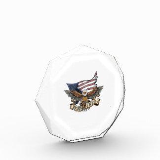 Bandera americana Eagle calvo patriótico llevado
